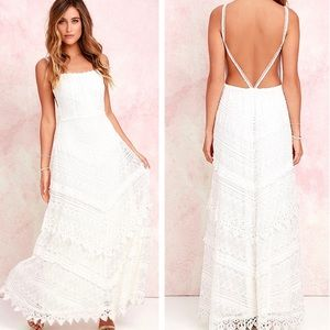 Lulu's Beneath The Garden Arbor Ivory Dress